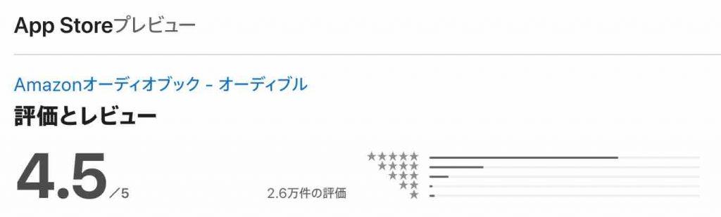 AppStoreでの評価