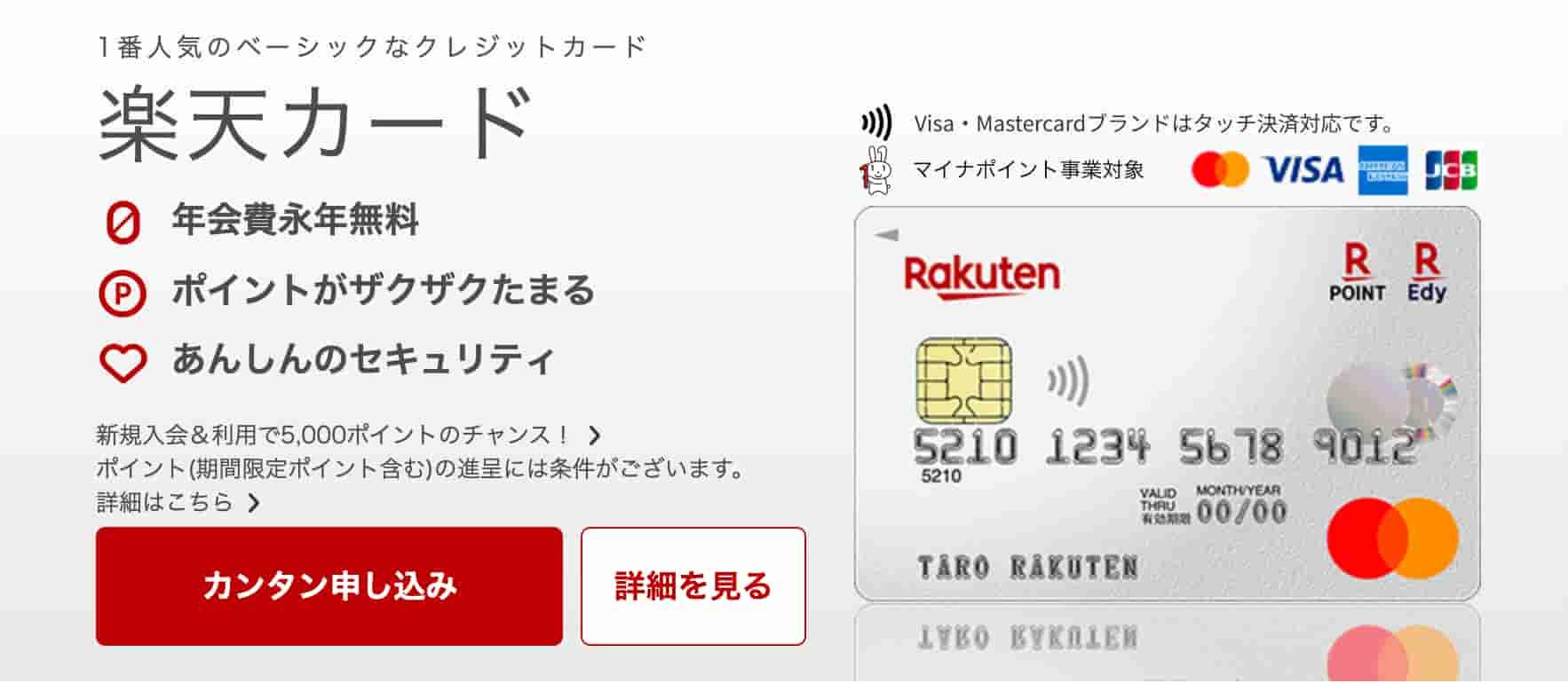 楽天Koboの支払いで使える楽天カードの解説